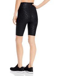 Aqua Athletic Gloss Print Shorts - Black