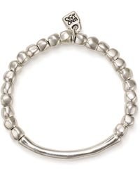 Uno De 50 Journey Beaded Logo Charm Bracelet - Metallic