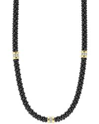 Lagos - 'black Caviar' Station Necklace - Lyst