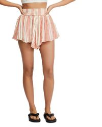 Free People She Will Be Loved Striped Shorts - Pink