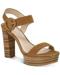 Via Spiga Women's Ira Strappy Platform High - Heel Sandals - Brown