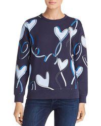 ESCADA - Elapo Heart Ribbon Print Sweatshirt - Lyst