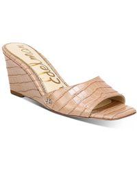 Sam Edelman Women's Tesma Slip On Wedge Sandals - Natural