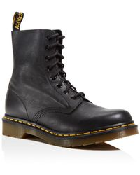 Dr. Martens Pascal Leather Combat Boots - Pink