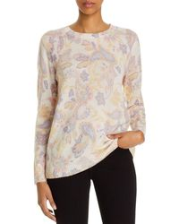 C By Bloomingdale's Cashmere Paisley Print Jumper - Multicolour