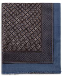 Gerard Darel Noa Geometric Print Wool Scarf - Blue