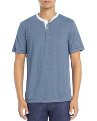 Theory Gaskell Anemone Slim Fit Henley Tee - Blue