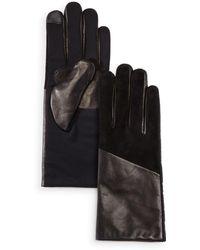 Echo - Leather Detail Tech Gloves - Lyst