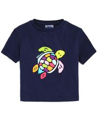 Vilebrequin Tortue Rainbow Turtle Graphic Tee - Little Kid - Blue