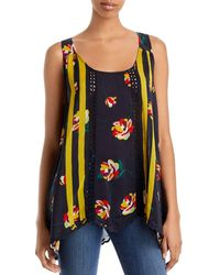 Johnny Was Emily Floral Tank - Blue