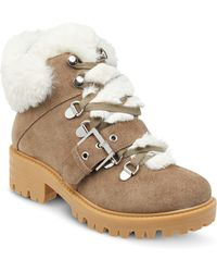 Kendall + Kylie - Women's Edison Round Toe Suede Hiking Boots - Lyst