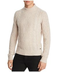 BOSS Orange   Kabiol Cable Knit Mock Neck Sweater   Lyst
