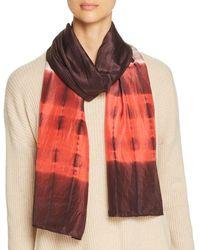 Eileen Fisher - Color-block Silk Scarf - Lyst