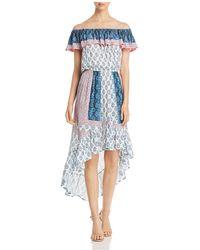 Tolani - Mixed-print Off-the-shoulder Dress - Lyst
