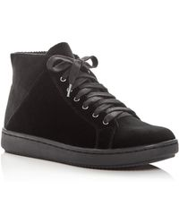 Eileen Fisher - Women's Game Velvet High Top Trainers - Lyst