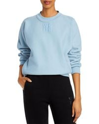 T By Alexander Wang Foundation Cotton Terry Sweatshirt - Blue