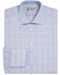 Turnbull & Asser - Large Grid Regular Fit Dress Shirt - Lyst