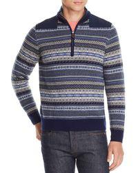 Vineyard Vines - Fair-isle Half-zip Pullover Sweater - Lyst