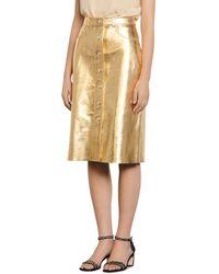 Sandro Gleam Metallic - Leather Pencil Skirt