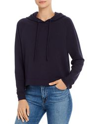 Majestic Filatures Cropped Hoodie - Blue
