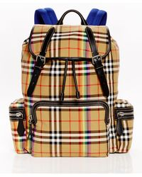 Burberry - - Rainbow Vintage Check Cotton Backpack - Mens - Beige Multi - Lyst