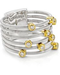 Bloomingdale's Marc & Marcella Diamond Ring In 14k Gold - Plated Sterling Silver & Sterling Silver - Metallic
