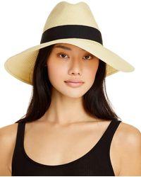 Aqua Straw Sun Hat - Black
