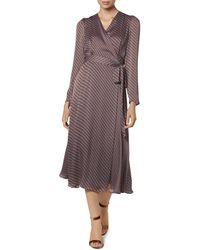 L.K.Bennett Loreta Striped Wrap Dress - Multicolour