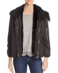 Maximilian - Rabbit Fur Lined Jacket - Lyst