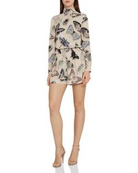 Reiss Gail - Butterfly Printed Playsuit - Multicolour