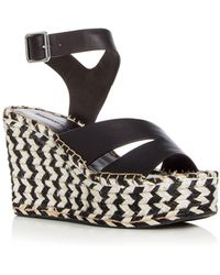 Sigerson Morrison | Arien Leather Platform Wedge Sandals | Lyst