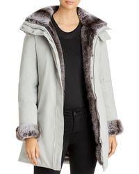 Save The Duck Arctic Faux Fur Trim Parka - Gray