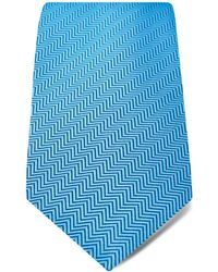 Hilditch & Key - Herringbone Textured Solid Classic Tie - Lyst