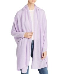 C By Bloomingdale's Cashmere Travel Wrap - Purple