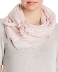 Fraas - Textured Striped Scarf - Lyst
