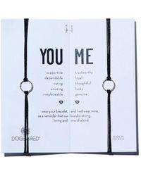 Dogeared You & Me Friendship Bracelets - Black