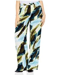 Vince Camuto - Leaf-print Wide-leg Trousers - Lyst