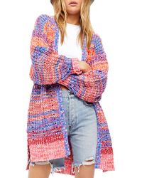 Free People Dreaming Again Ribbed Cardigan - Multicolour