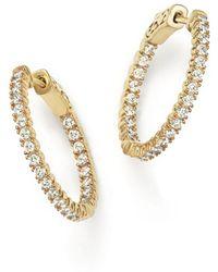 Bloomingdale's - Diamond Inside Out Hoop Earrings In 14k Yellow Gold, 1.0 Ct. T.w. - Lyst