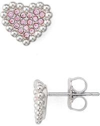 Nadri - V-day Pavé Heart Earrings - Lyst