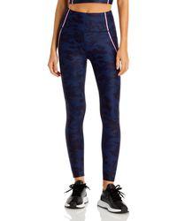 Aqua Athletic Camo Leggings - Blue