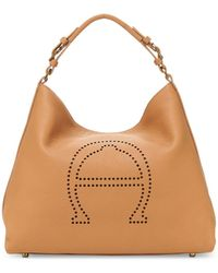 Etienne Aigner Stella Large Leather Hobo - Brown
