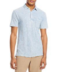 Faherty Brand Indigo Regular Fit Polo Shirt - Blue