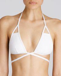 Vitamin A - Serra Crochet Bikini Top - Lyst