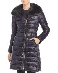 Herno Elisa Faux Fur Collar Puffer Coat - Black