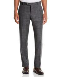 Bloomingdale's Wool Tonal - Check Classic Fit Pants - Gray
