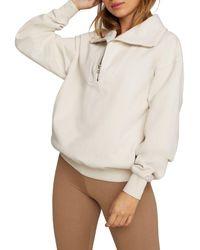 GOOD AMERICAN Half Zip Pullover Top - Multicolor
