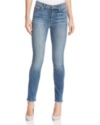 PAIGE - Hoxton Skinny Ankle Jeans In Sawyer - Lyst