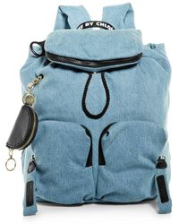 See By Chloé Joy Rider Denim Backpack - Blue