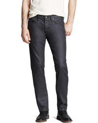 John Varvatos - John Varvatos Usa Jeans - Bowery Slim Straight Fit In Graphite - Lyst